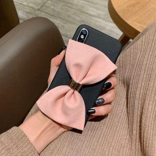 【ピンク】ビッグリボン iPhoneケース(iPhoneケース)