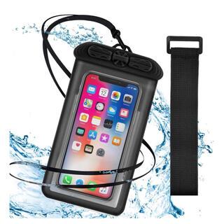 スマホ防水ケース 指紋認証/顔認証対応 防水ケース 6.5インチ以下全機種対応
