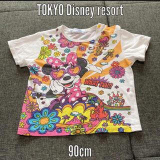 ディズニー(Disney)のTOKYO Disney resort Tシャツ ミニー90 綿100% メガネ(Tシャツ/カットソー)