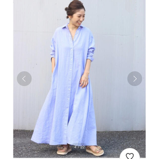 Plage - plage  linen flared ワンピース