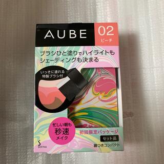 オーブ(AUBE)のソフィーナ オーブ ブラシひと塗りチーク 03 ベージュレッド(5.7g)(チーク)