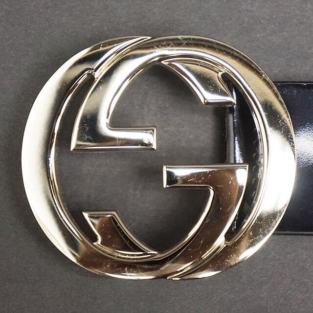 Gucci(グッチ)のGUCCI イタリア製 レディース  女性用 ロゴ GG ベルト 32インチ レディースのファッション小物(ベルト)の商品写真