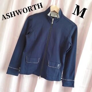 アシュワース(Ashworth)の【F058】アシュワース レディース Wジップ ジップアップジャケット 紺 M(パーカー)