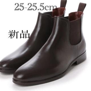 新品✨タグ付き♪定価8690円 レインブーツ ブラウン 25〜25.5センチ(長靴/レインシューズ)