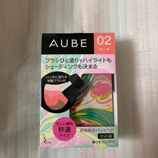 オーブ(AUBE)の限定パッケージ オーブ02ピーチ ブラシひと塗りチーク 限定パッケージ(チーク)