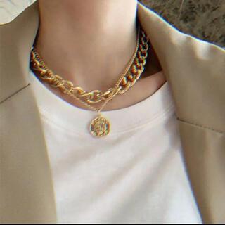 新品 ゴールドネックレス メンズ コイン ゴールド ネックレス 金 韓国 海外