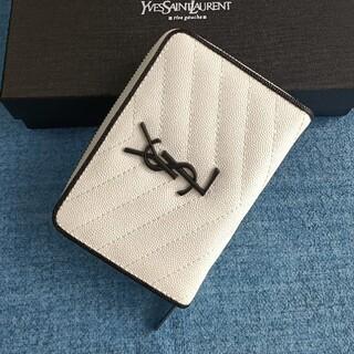 イヴサンローランボーテ(Yves Saint Laurent Beaute)のホワイト♡人気品♡サンローラン 二つ折り財布 コインケース(コインケース)