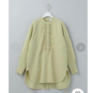 6(ROKU) ライム ピンタックシャツ
