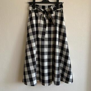 アナイ(ANAYI)のANAYI ギンガムチェックタックフレアースカート 36(ロングスカート)