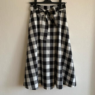 ANAYI - ANAYI ギンガムチェックタックフレアースカート 36