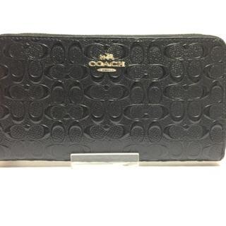 コーチ(COACH)のコーチ美品  F54805 黒 エナメル(レザー)(財布)
