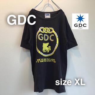 GDC - GDC ジーディーシー Tシャツ ビックプリント バック ブラック 黒 熊谷隆志