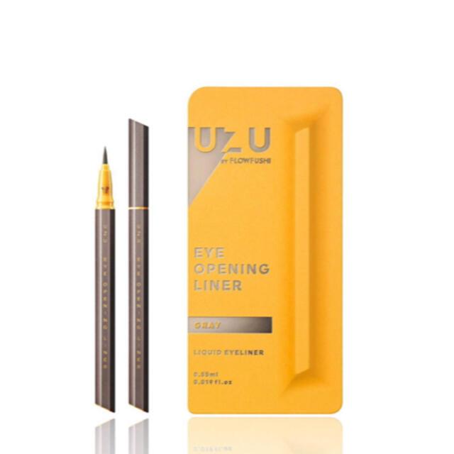 FLOWFUSHI(フローフシ)の⭐︎新品未使用⭐︎フローフシ UZU アイライナー グレー コスメ/美容のベースメイク/化粧品(アイライナー)の商品写真
