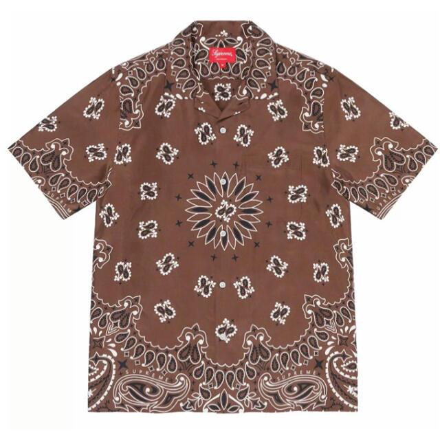 Supreme(シュプリーム)の21ss M supreme bandana silk shirt brown メンズのトップス(シャツ)の商品写真