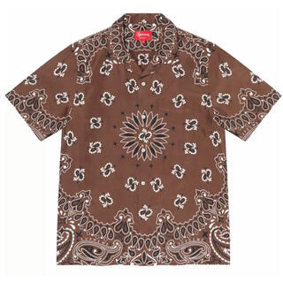 Supreme - 21ss M supreme bandana silk shirt brown