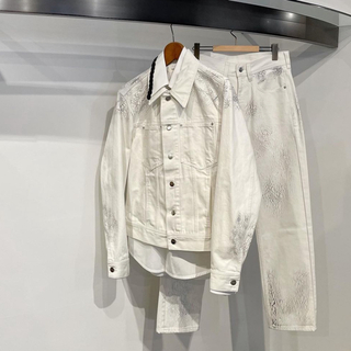 namacheko 21ss crack denim jacket