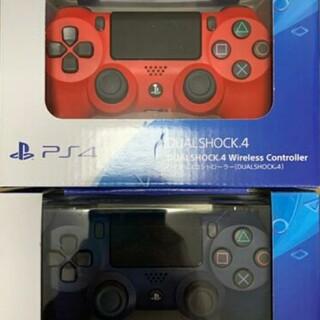 プレイステーション4(PlayStation4)の新品 PS4 DUAL SHOCK4 マグマ・レッド ワイヤレスコンローラー (その他)