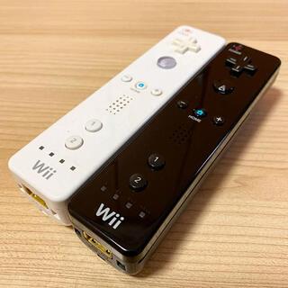 ウィー(Wii)の任天堂Wiiリモコン白黒2つセット(家庭用ゲーム機本体)