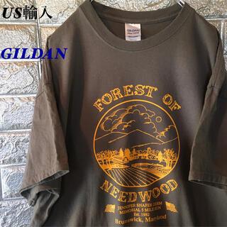 GILDAN - 【US輸入】GILDAN ニードウッドフォレスト Tシャツ XLサイズ ゆるだぼ