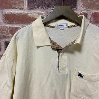 バーバリー(BURBERRY)のバーバリー ポロシャツ LY メンズ ゴルフ ホース 刺繍 ノバチェック 黄色(ポロシャツ)