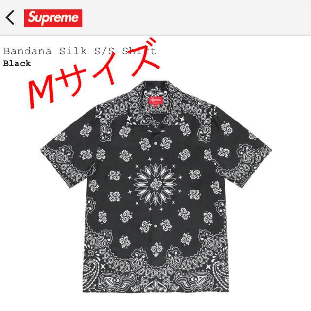 Supreme(シュプリーム)のsupreme Bandana Silk Shirt 黒 Mサイズ メンズのトップス(シャツ)の商品写真