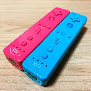 ウィー(Wii)の動作確認済⭐️Wiiリモコンプラス2つセット[アオ・ピンク](家庭用ゲーム機本体)