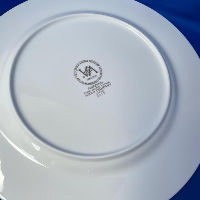 NIKKO(ニッコー)のNIKKO ニッコー ウィリアムモリス ゴブレット 5客 プレート 1枚 インテリア/住まい/日用品のキッチン/食器(食器)の商品写真