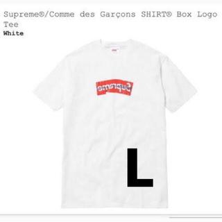 Supreme - 17ss Supreme COMME des GARCONS SHIRT 白 L