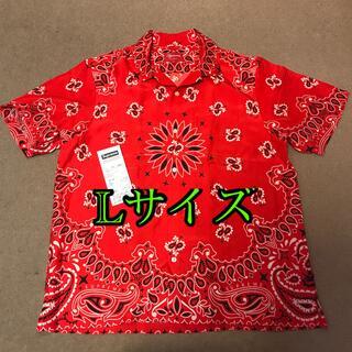 シュプリーム(Supreme)のSupreme Bandana Silk Shirt Red Lサイズ(シャツ)