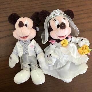Disney - ミッキー&ミニー ぬいぐるみバッジ