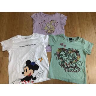 120センチ 半袖 Tシャツ 3点セット ディズニー ミニー ラプンツェル