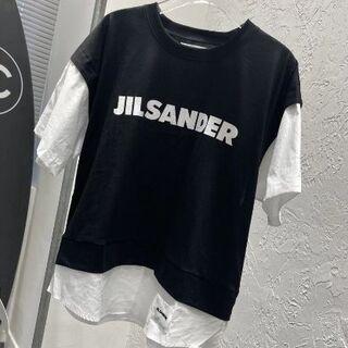 ジルサンダー(Jil Sander)の21ss JIL SANDER ロゴ プリント コットン Tシャツ-L(シャツ/ブラウス(半袖/袖なし))