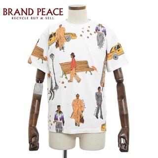 ルイヴィトン(LOUIS VUITTON)のルイ・ヴィトン ニューヨーカーDNA Tシャツ ホワイト/マルチカラー コットン(Tシャツ/カットソー(半袖/袖なし))