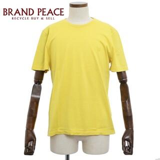 ルイヴィトン(LOUIS VUITTON)のルイ・ヴィトン サークルロゴ Tシャツ イエロー コットン メンズ Lサイズ(Tシャツ/カットソー(半袖/袖なし))