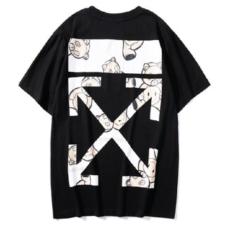 OFF-WHITE - ☺人気OFF-WHITE Tシャツ 男女兼用