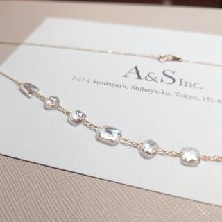 agete - 【限定品】agate k10 ホワイトトパーズ ネックレス