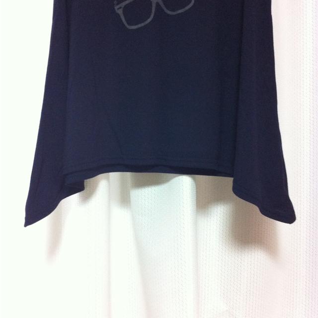 THE EMPORIUM(ジエンポリアム)のめがねプリントなTシャツ レディースのトップス(Tシャツ(半袖/袖なし))の商品写真