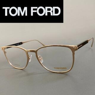 TOM FORD - トムフォード ローズゴールド メタル メガネ ブロー フルリム 金 ブラウン