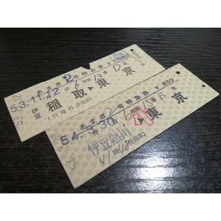 伊豆急行発行 あまぎ号 特急券2枚 硬券 切符 (鉄道)