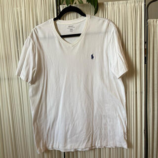 POLO RALPH LAUREN - 美品☆POLO Ralph Lauren VネックTシャツ 白×紺 L