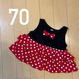 Disney - 【70】ミニー ベビー服 ワンピース トップス