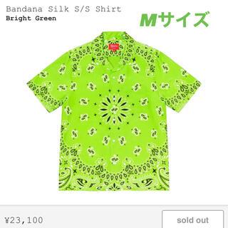 シュプリーム(Supreme)のSupreme Bandana Silk S/S Shirt M 黄緑(シャツ)