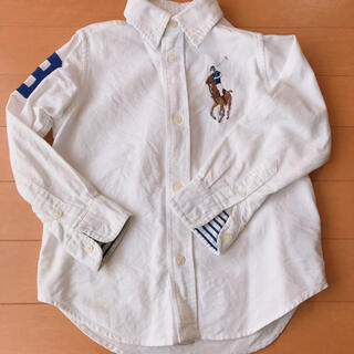 ラルフローレン(Ralph Lauren)のRalph Lauren 3T ピックポニー 刺繍 白シャツ(Tシャツ/カットソー)