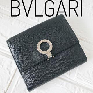 BVLGARI - ✨極美品✨ BVLGARI ブルガリ 折財布 ブラック財布 レザー
