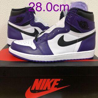 NIKE AIR JORDAN 1 COURT PURPLE 白紫 28cm(スニーカー)
