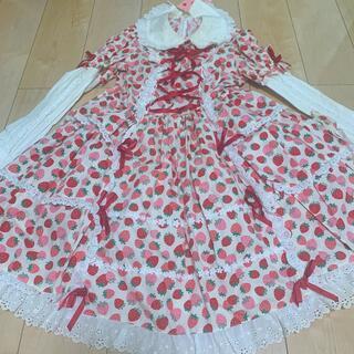 アンジェリックプリティー(Angelic Pretty)の新品 アンジェリックプリティ いちご ワンピース strawberry(ひざ丈ワンピース)