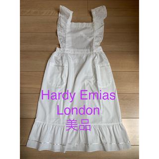 HARDY AMIES - ハーディエイミス ロンドン 白のエプロン
