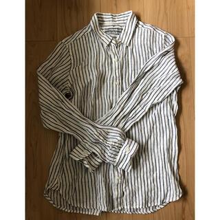 MUJI (無印良品) - 無印良品 リネンストライプシャツ