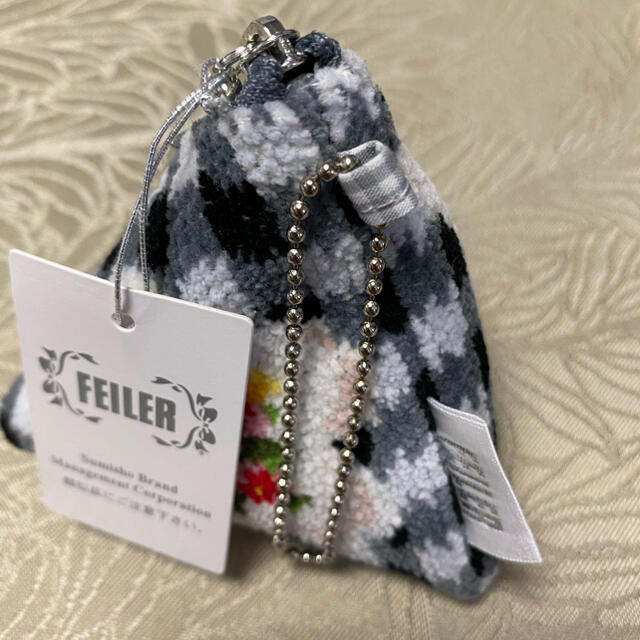 FEILER(フェイラー)のフェイラー ヴィシーチェック 三角 テトラポーチ新品 レディースのファッション小物(ポーチ)の商品写真