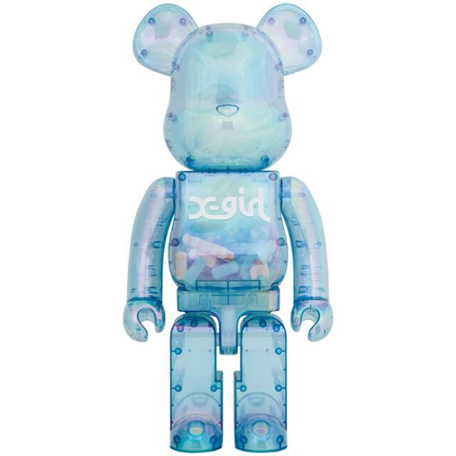 MEDICOM TOY(メディコムトイ)のBE@RBRICK X-girl 2021 1000% 二つセット エンタメ/ホビーのおもちゃ/ぬいぐるみ(模型/プラモデル)の商品写真